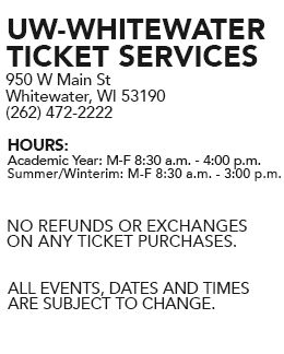 UW-W Ticket Services Information